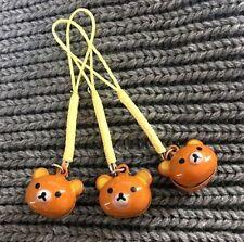 FD3689 Cartoon Rilakkuma Relax Bear Bell Keyring Key Chain Wallet Key Ring 1pc