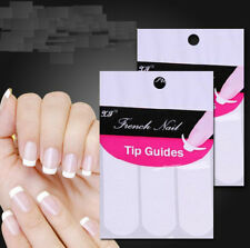 240Pcs French Manicure Nail Art Tips Form Guide Sticker Polish DIY Stencil MA