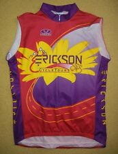 VOLER Bright Red Erickson Bike Tour CYCLING JERSEY Race Vest Uniform Sz Adult XL