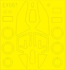 EDUARD EX551 Masking Sheet for KittyHawk Kit Su-17M3/M4 in 1:48
