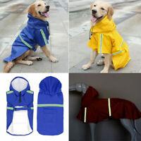 Dog Raincoat Waterproof Outdoor Pet Doggie Rain Coat Rainwear Jacket Clothes US