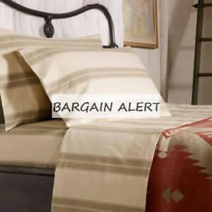 RALPH LAUREN Amagansett Further Lane Ticking King Pillowcases  NEW $130 Retail