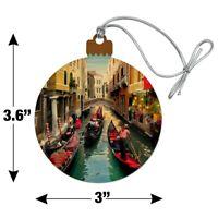 Venice Italy Gondolas Canals Wood Christmas Tree Holiday Ornament