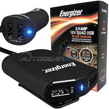 Energizer 50528 12 V 24 V encendedor coche camión 2.4 A Quad 4 USB Adaptador de enchufe de múltiples