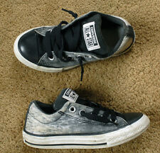CONVERSE ALL STAR gray pattern size juniors US 13 black laces