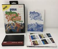 Double Dragon - Sega Master System - Complete CIB, Free Shipping!