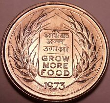 Gem Unc India 1973 50 Paise~Grow More Food~F.A.O. Issue~Free Shipping