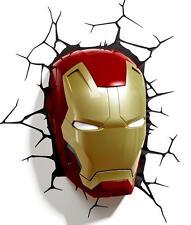 Iron Man Helmet 3d FX Deco Night Light Avengers Marvel Comics