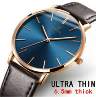 Men Sport Watch Genuine Leather Strap Automatic Wrist Watch Mechanical Watches