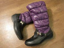 Pajar Women's Purple/Black Leather/Fabric Winter Boot Sz US 6-6.5 EU 37