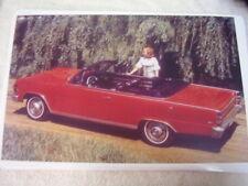 1967 RAMBLER AMC AMBASSADOR CONVERTIBLE   11 X 17  PHOTO /  PICTURE