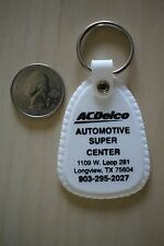 AC Delco Automotive Super Center Longview Texas White Keychain Key Ring #25982