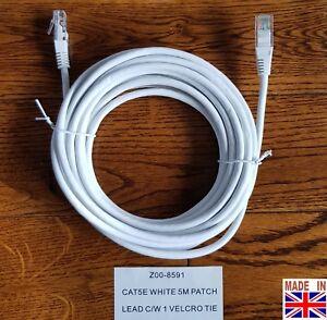 5m RJ45 CAT5e PoE CCTV RJ45 Cable Pure Solid Copper Network Camera 5 Meter