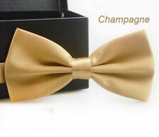 Cravate Homme Garçon Noeud Papillon mariage couleur Champagne