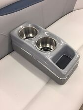 Portable Cup Holder (MarIne RV Pontoon Boat) Silver/Grey SS BUYCUPHOLDERS.COM