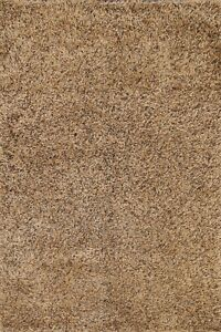 Thick-Plush Modern Shaggy Oriental Area Rug Hand-tufted Wool Brown Carpet 5x7 ft
