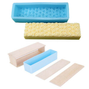 Silicone Soap Mould Cake Loaf Candle Bread Chocolate Craft Baking Tool Tray