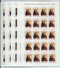 FRANCOBOLLI 1992 VATICANO SCOPERTA DELL' AMERICA SERIE FOGLI INTEGRI MNH D/4420