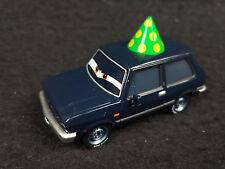 Disney Pixar Cars 2 black Alexander Hugo with Party Hat 1/55 Diecast