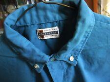 True Vtg 60s Boys Sz 16 Torquoise Blue Kolesport Geek Collar Button Prep Shirt