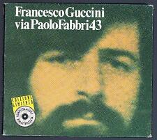 FRANCESCO GUCCINI VIA PAOLO FABBRI  CD EDIZIONE LIMITATA DIGIPACK F.C.