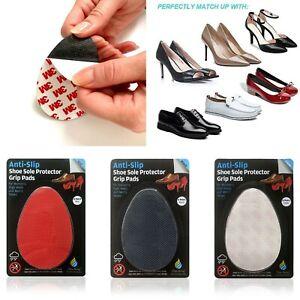 Non Slip Shoe Sole Protector Pads - 3m Adhesive Anti-Slip Stick on Shoe Grip