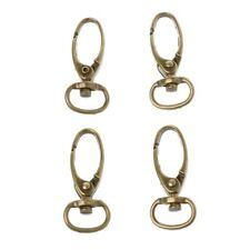 4Pcs Antique Metal Lobster Clasps Swivel Trigger Clips Snap Hooks Bag Key Ring