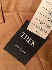 Trek NY Leather Pants Genuine Italian Lamb Honey Women Size 30 New