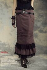 Rq-Bl Steampunk Pencil Skirt Brown Sz L