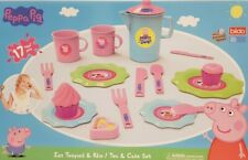 New Peppa Pig 17 Piece Tea Cake Set Role Play Gift Playset Kids Boys Girls Toys
