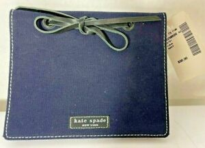Kate Spade Black & BLUE signature fabric photo album NWT FROM SAKS FIFTH AVE