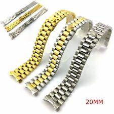Bracciale per Rolex DayDate President compatibile 20mm maglie piene finali curvi