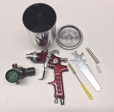 FR-906 HVLP Gravity Feed Spray Gun Kit With Regulator, Aluminum 0.6 Cup