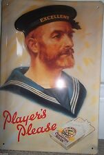 PLAYER'S CIGARETTES- NAVY SAILOR:30x20cm EMBOSSED (3D)  METAL ADVERTISING SIGN