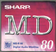 1x SHARP RECORDABLE DIGITAL AUDIO MINIDISC 80 MINUTES BRAND NEW MD-R80 H5a