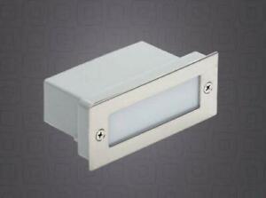 Einbaustrahler LED Stufen Treppen Beleuchtung Garten 230V Edelstahl IP54