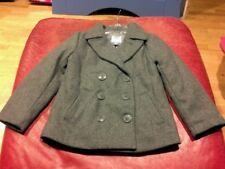 Nwt OLD NAVY BOYS pea jacket gray wool blend  XS 5