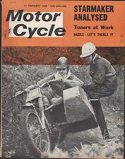 THE MOTORCYCLE SIDECAR SCRAMBLING 21 FEB1963