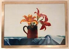 "original oil painting ""flowers on the balcony"" stuart kaufman 1926-2008"