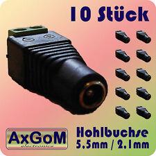 Hohlbuchse 5,5 mm / 2,1 mm - Schraubklemmen - 10 Stück