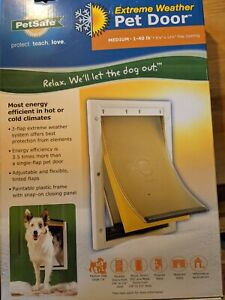 PetSafe Extreme Weather Pet Dog Doors W/ Triple Flaps