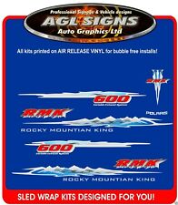 2002 POLARIS RMK 600 HOOD DECALS graphics reproductions