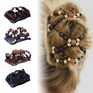 Women Magic Beads Stretch Double Hair Comb Clip Hairpin Accessories Decoration