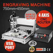 4 AXIS USB CNC ROUTER ENGRAVER ENGRAVING CUTTER MILLING WOODWORKING MACHINE