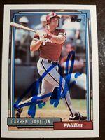 1992 Topps Darren Daulton Auto Autograph Card #244 Signed Phillies Deceased 2017