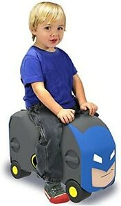 Vrum Batman Ride-On Toy Box and Suitcase with Strap