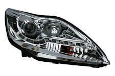 Ford Focus 08-11 Projector Headlights Chrome Inner DRL W/Mtr Type 1 Pair