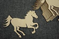 10 x Pferd Pony klein Hufeisen Holz  Basteln Bauernhof Verschönerung Glück /X4/