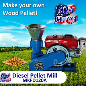 Diesel Pellet Mill For Wood - MKFD120A - USA