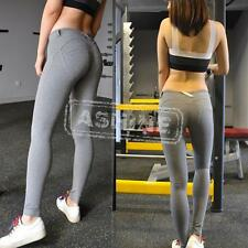 Womens Lady Leggings Slim Jeggings Trousers Skinny Stretchy Denim Jeans Colored